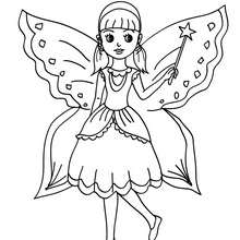 Coloriage costume carnaval fée - Coloriage - Coloriage FETES - Coloriage CARNAVAL - Coloriage CARNAVAL COSTUMES
