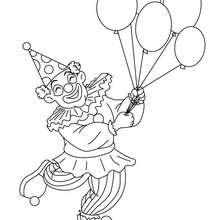 Coloriage : Clown aux ballons du carnaval à colorier