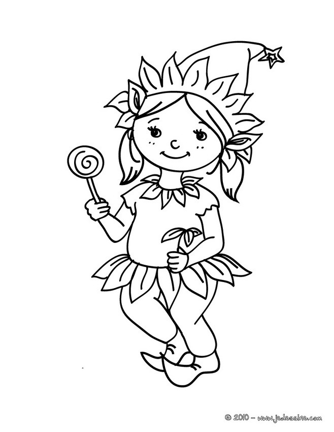 Coloriages coloriage costume carnaval lutin - Lutin coloriage ...