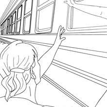 Coloriage : Au revoir du train à colorier