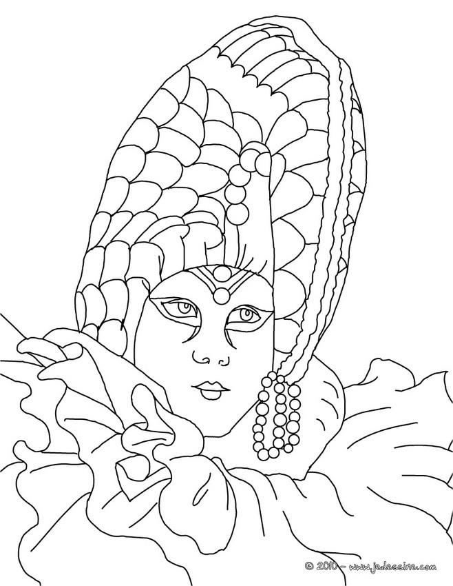 Coloriages masque perl carnaval venise colorier fr - Masque venitien a imprimer ...