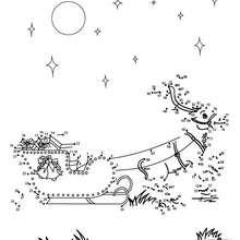 Traineau dans les nuages - Jeux - Jeux des fêtes - Jeux de Noël - Points à relier Noël