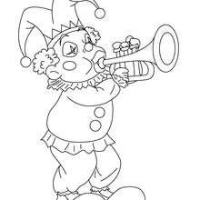 Bouffon trompette du carnaval à colorier - Coloriage - Coloriage FETES - Coloriage CARNAVAL - Coloriage PERSONNAGES CARNAVAL