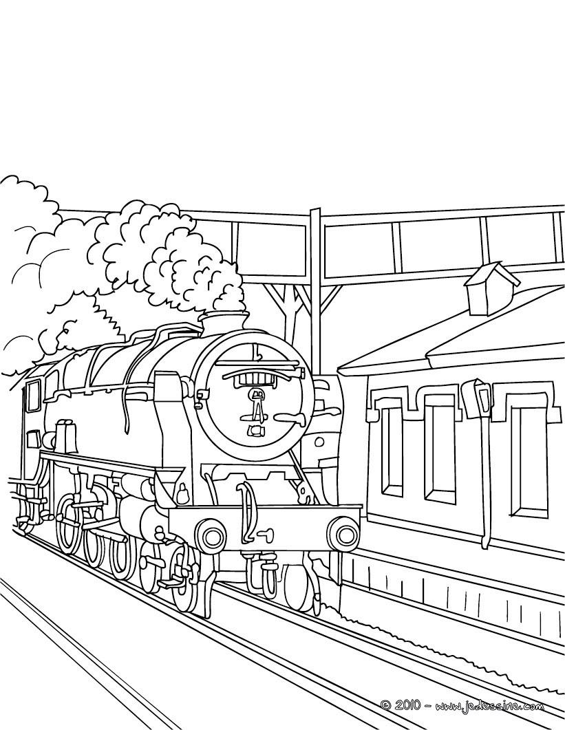 Coloriages locomotive vapeur - Locomotive dessin ...