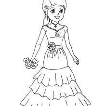 Coloriage costume carnaval princesse