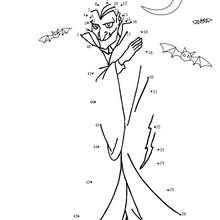 Jeu de points à relier : Dracula d'halloween