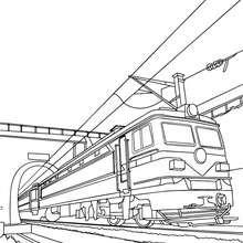 Arrivée du train à colorier
