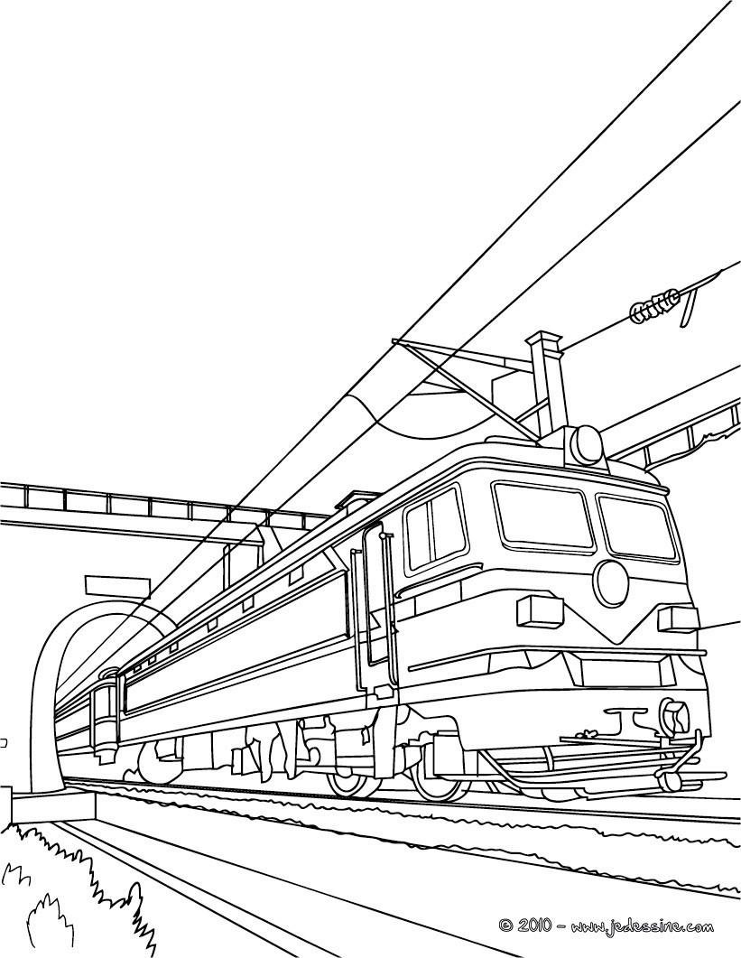 Coloriages arriv e du train colorier - Train en dessin ...