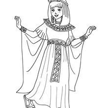 Coloriage costume carnaval cléopatre - Coloriage - Coloriage FETES - Coloriage CARNAVAL - Coloriage CARNAVAL COSTUMES