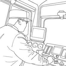 Coloriage : Chauffeur de train à colorier