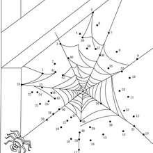 Toile d'araignée d'halloween - Jeux - Jeux de Points à relier - Points à relier Halloween
