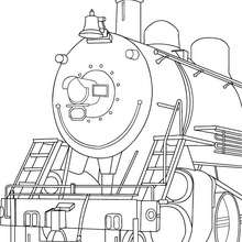 coloriage de locomotive - Coloriage - Coloriage VEHICULES - Coloriage TRAIN - Coloriages TRAINS