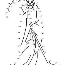 La mort - Jeux - Jeux de Points à relier - Points à relier Halloween