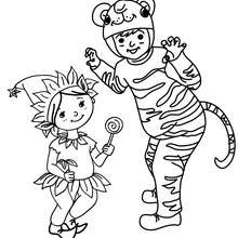Coloriage costume carnaval enfants