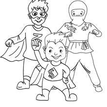 Coloriage costume carnaval super-héros