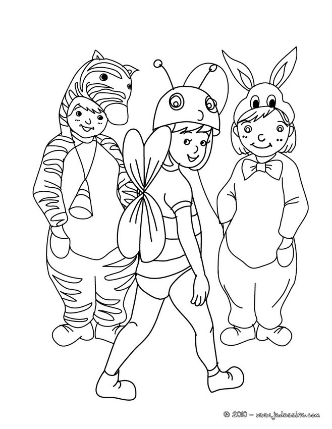 Coloriages coloriage costume carnaval petits animaux fr - Carnaval coloriage ...