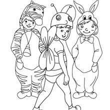 Coloriage costume carnaval petits animaux - Coloriage - Coloriage FETES - Coloriage CARNAVAL - Coloriage CARNAVAL COSTUMES