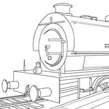 Arrière de train à colorier - Coloriage - Coloriage VEHICULES - Coloriage TRAIN - Coloriages TRAINS