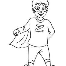 Coloriage costume carnaval héros - Coloriage - Coloriage FETES - Coloriage CARNAVAL - Coloriage CARNAVAL COSTUMES