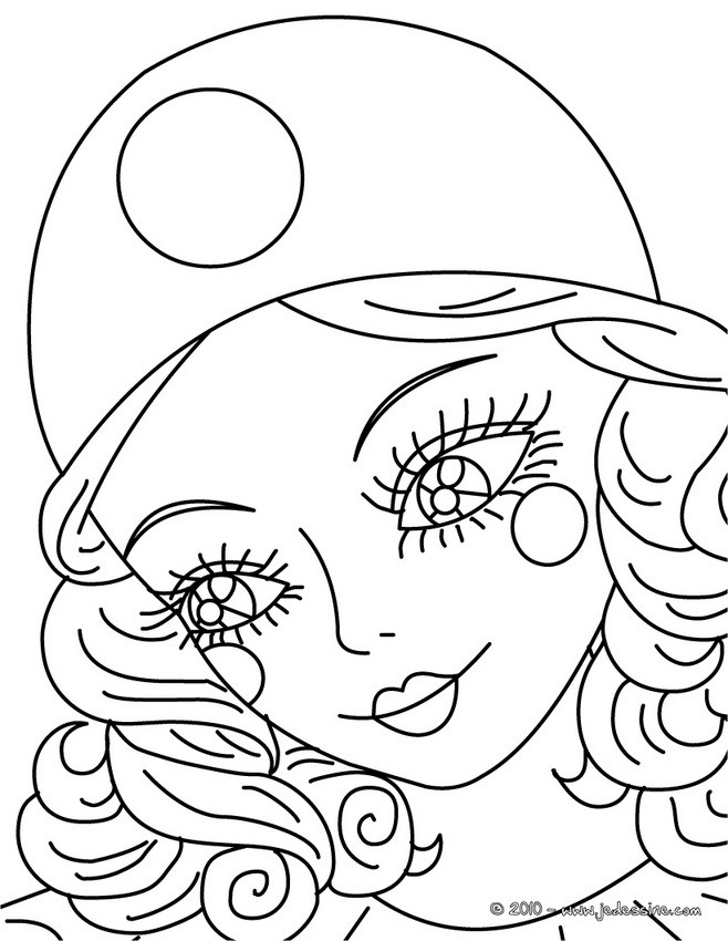 Maquillage dessin a colorier - Dessin carnaval ...