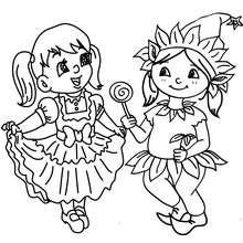 Coloriage : Petites elfes à colorier