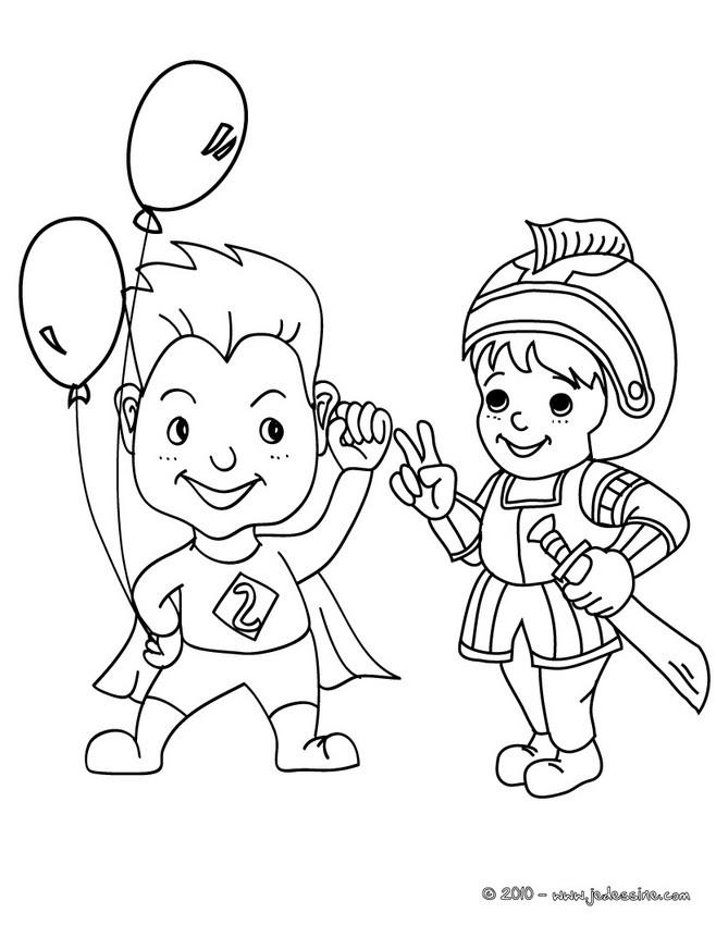 fes et princesses colorier superman et chevalier costume colorier coloriage coloriage fetes coloriage carnaval coloriage