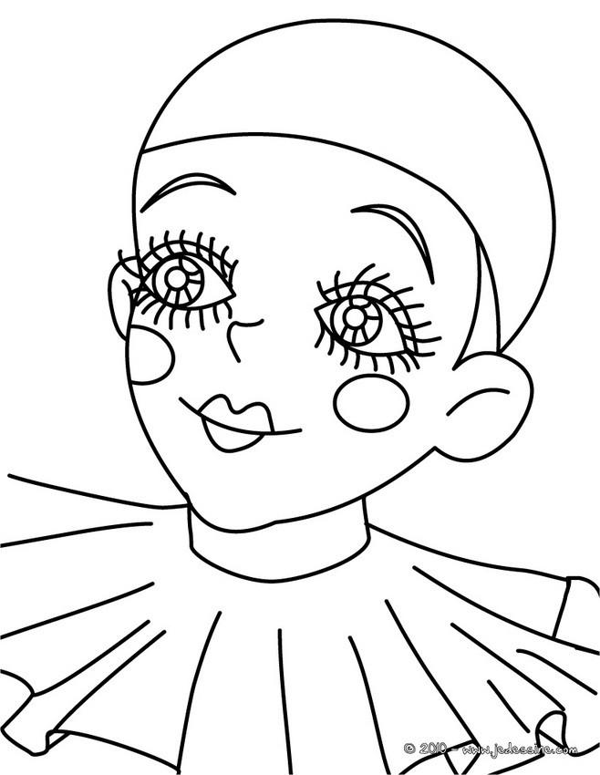 Coloriage Facile Arlequin.Coloriages Pierrot Et Arlequin A Colorier Fr Hellokids Com
