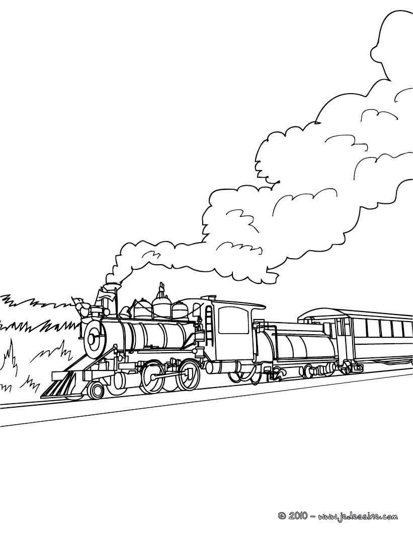 Coloriages Jolie Locomotive 224 Colorier Fr Hellokids Com Rail Color Page