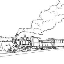 Jolie locomotive à colorier - Coloriage - Coloriage VEHICULES - Coloriage TRAIN - Coloriages TRAINS