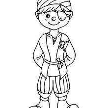Coloriage costume carnaval pirate