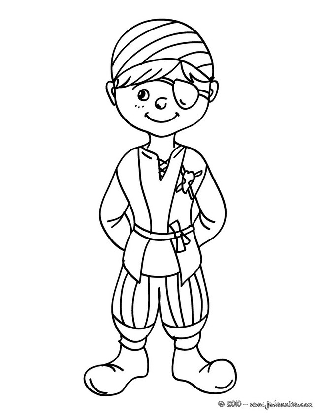 Coloriage Carnaval Deguisements.Coloriages Coloriage Costume Carnaval Pirate Fr Hellokids Com