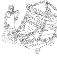 Char carnaval chinois à colorier - Coloriage - Coloriage FETES - Coloriage CARNAVAL - Coloriage CARNAVAL CHINOIS