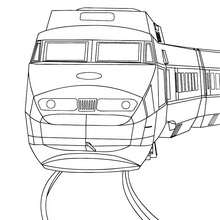 Thalys de face à colorier - Coloriage - Coloriage VEHICULES - Coloriage TRAIN - Coloriages TRAINS