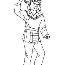 Coloriage costume carnaval indien - Coloriage - Coloriage FETES - Coloriage CARNAVAL - Coloriage CARNAVAL COSTUMES