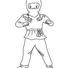 Coloriage costume carnaval ninja - Coloriage - Coloriage FETES - Coloriage CARNAVAL - Coloriage CARNAVAL COSTUMES