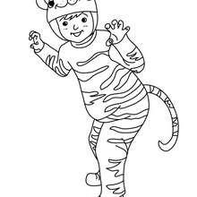 Coloriage costume carnaval tigre