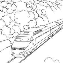 Coloriage : Train thalys à colorier