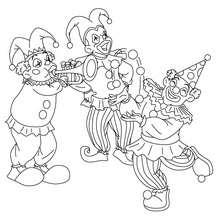 Personnages du carnaval à colorier - Coloriage - Coloriage FETES - Coloriage CARNAVAL - Coloriage PERSONNAGES CARNAVAL