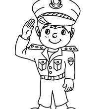 Coloriage costume carnaval capitaine