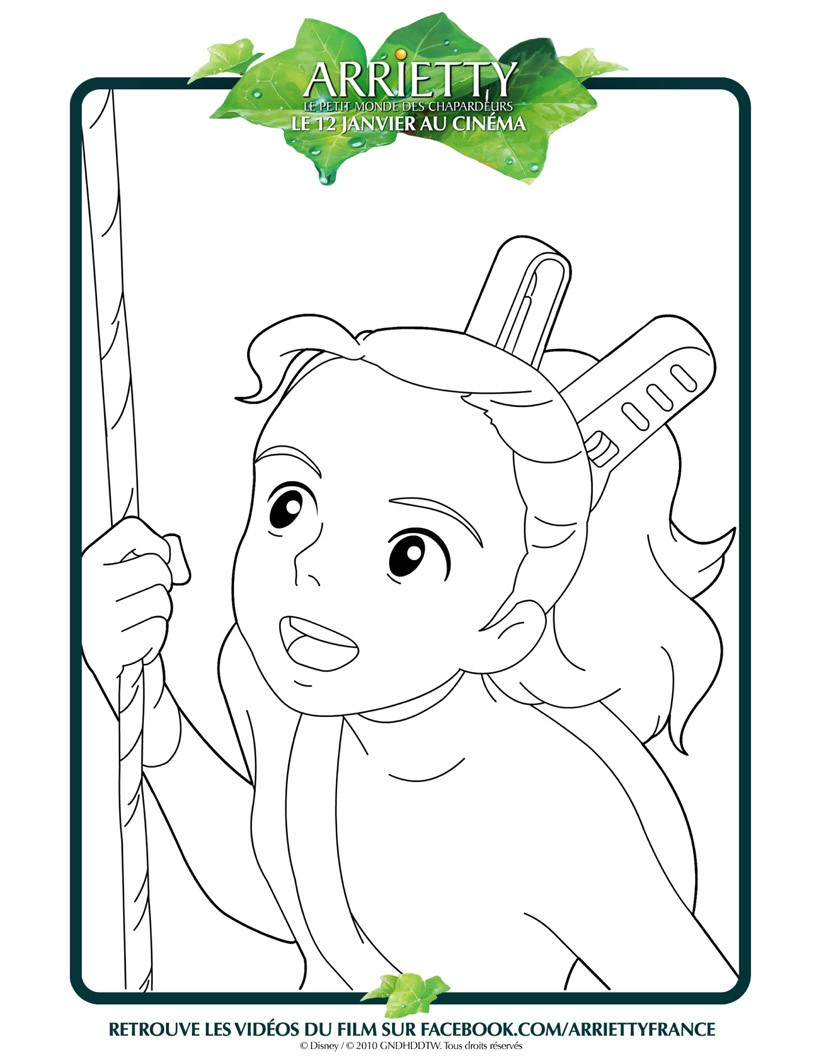 Coloriages visage d 39 arrietty - Coloriage visage ...