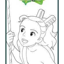 Coloriage : Visage d'Arrietty