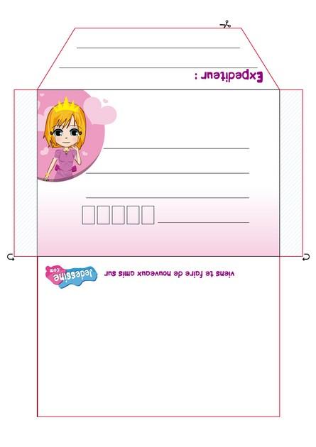 Activité : Enveloppe Anniversaire Princesse