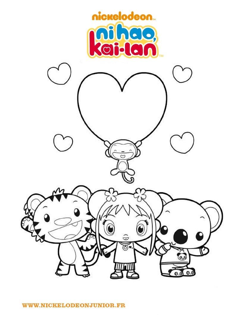 coloriages les personnages de ni hao kai lan fr hellokids com