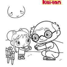 NI HAO KAI LAN à imprimer - Coloriage - Coloriage DESSINS ANIMES - Coloriage NI HAO KAI LAN