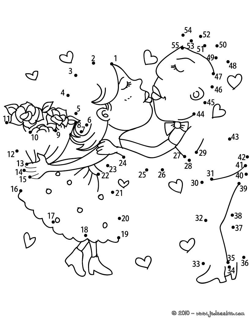 jeu de points relier les amoureux points relier difficile imprimer