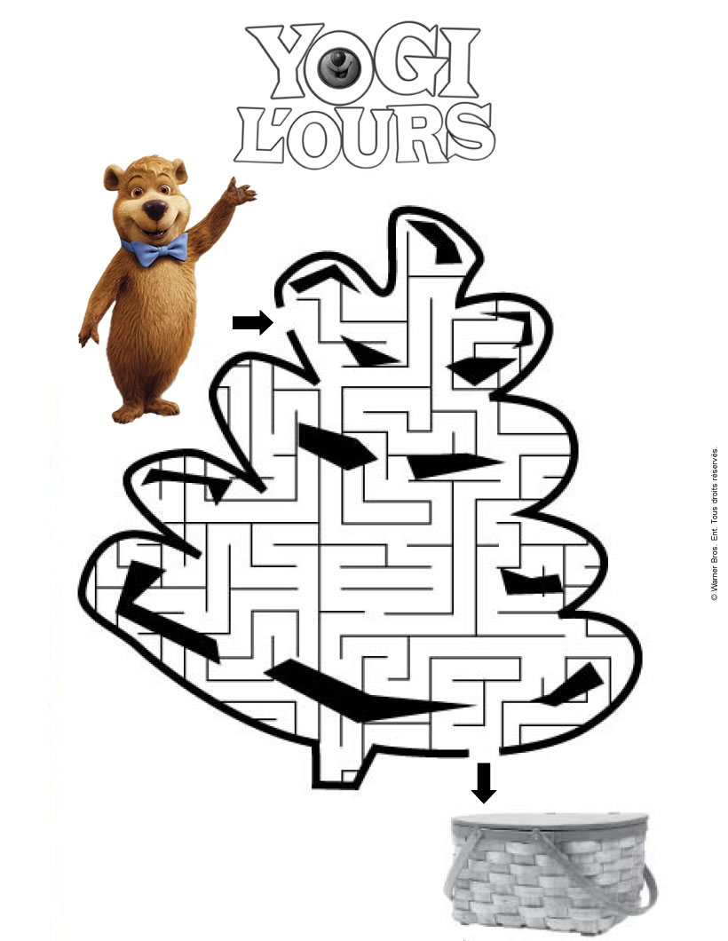 Labyrinthe YOGI L'OURS