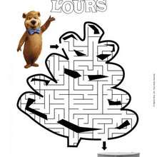 Labyrinthe YOGI L'OURS - Coloriage - Coloriage FILMS POUR ENFANTS - Coloriage YOGI L'OURS