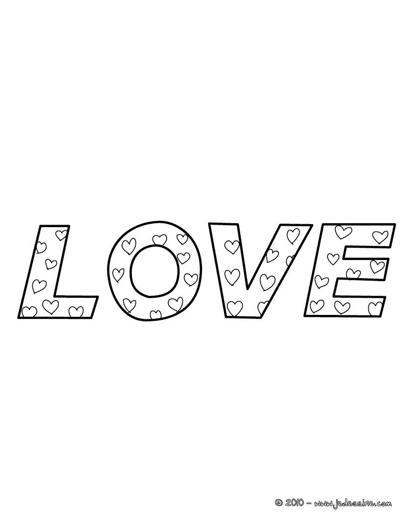 Coloriage Love Saint Valentin