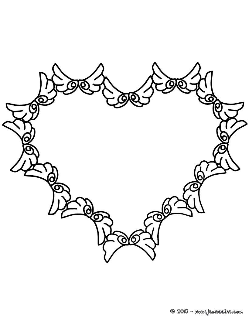 Coloriages coloriage couronne de coeurs imprimer fr - Coloriage de coeurs ...