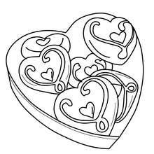 Coloriage boîte coeur Saint Valentin - Coloriage - Coloriage FETES - Coloriage SAINT VALENTIN - Coloriage CADEAUX SAINT VALENTIN